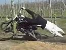 Motorrad Donut Crash: Und plötzlich hat das Motorrad gemacht was es will