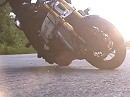 Motorrad Drift Slowmotion