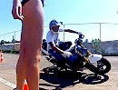 Motorrad Driftshow mit Andrey Golovnya und Yuriy Driftovskiy - würdige Gummivernichtung