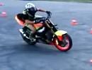 Motorrad Driftshow mit Nikitas Podolski - der Junge hats drauf, aber richtig
