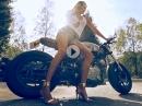 Sexy Motorrad Fotoshooting anders: Julia Zugarova vs. Porsche 991 GT3