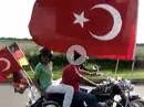 Motorrad Fußball Fan