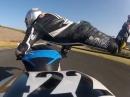 Motorrad Highsider Great Save von Genki Hagata #422. Einatmen, ausatmen