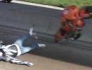 Motorrad Highway Wheelie Crash - Auf dem Highway ist die Hölle los