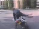 Motorrad-Honk Inspektion, neue Reifen, Crash, Fresse kaputt