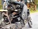 Motorrad mit Automotor - Perfekt! mit liebevollen Detaillösungen - HAMMER!