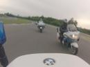 """Motorrad Polizei """"Prague Castle Guard"""" auf der Rennstrecke in Brünn (Brno)"""
