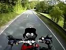 Motorrad Probefahrt mit Go-Pro Hero Bergstrecke nach Hohensolms
