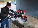 Motorrad richtig waschen mit Hochdruckreiniger - Motorradaufbereitung (1/4) Chain Brothers