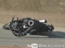 Motorrad Snake Crash: Rasten aufgesetzt, erschrocken, in die Eisen und ...