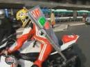 Motorrad Superbike Taxifahrt - durchgeknallte Aktion, gaskranke Geschäftsidee!
