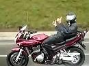 Motorrad Suzuki Bandit 1200 mit Autopilot bei Regen - dann wundern wenn es kracht!
