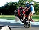 Motorrad Tandem Stand Up Wheelie - gekonnt ist gekonnt!