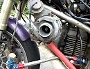 Motorrad-Tuning: Ducati 900ss mit Turbolader - Bissi Feinabstimmung - passt!