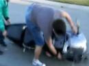 Motorrad Umfaller Fahranfänger: Anfahren, Motorrad aus, Lackschaden :-)
