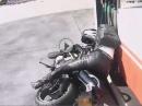 Motorrad Umfaller Tankstelle - DU könntest der nächste sein!!!