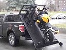 Motorrad verladen, Motorradtransport Vollautomat - macht auch noch was her!
