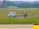 Motorrad vs. Auto - wer bremst besser? ADAC vergleicht