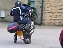 Motorrad-Wheelie Crash: Haste mich drauf? Ok geht los - mein erstes Wheelie