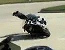 Motorrad Wheelie mit eingesprungenem Toeloop - Muhhhhhhhhh Autsch