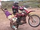 Motorrad Wheelie Rittberger rückwärts. Überschlag mit Haarteilverlust - Autsch