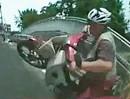 Motorrad Crash rückwärts - wenns Motorrad rückwärts rollt, ist der Wheelie ungewollt
