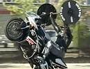 Motorrad Wheelie und Bodybuilding - Workout für Motorradfahrer