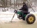 Motorrad Winterfahrer Kit: Man muss sich nur zu helfen wissen - made in Russia