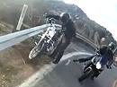 Motorradabflug: Zweimal Glück - zuerst in die Planke und dann beinahe abgeräumt