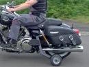 Motorradfahren mit Handicap - Harley mit Stützräder