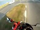 Motorradfahrer Kurve ausgegangen - Zu schnell? Zu langsam? Auf jeden Fall Glück!