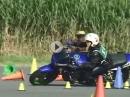 Motorradslalom: Gymkhana Top of Ladys ZRX1200R genial wie das Mädel feuert