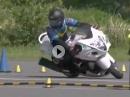 Motorradslalom: Hayabusa Gymkhana Könner am Stummel - Hut ab