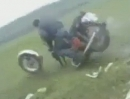 Motorradsprung Gabelbruch Crash: Zu alt oder Made in China ?!