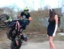 Motorradstunt - Der Osterhase sammelt Eier - Coole Idee Frohe Ostern