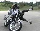 Motorradstunting mit Beinprothese - Hut ab, geile Leistung