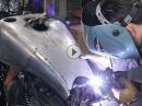 Motorradtank umgebaut - 'Blechkunst' vom Feinsten