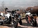 Motorradtest: Aprilia Dorsoduro 1200 vs Ducati Hypermotard 1100 Evo vs KTM 990 SMR