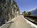 Motorradtour Gardasee auf Nebenstraße im Westen