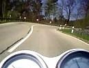 Motorradtour mit Triumph Thruxton 900 im Schurwald, Baden-Württemberg