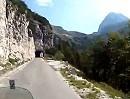 Motorradtour Passo Del Predil kommend, hoch auf den Mangart