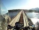 Motorradtour: Vitim Brücke eine der gefährlichsten Brücken der Welt - Adrenaline Rush