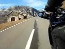 Motorradtour von Andermatt auf den Oberalppass im Spätherbst