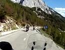Motorradtour von Summit nach Soca uaf dem Vrsic Pass (Werschitz- oder Werschetzpass