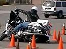 Motorradtraining Polizei: Victory vs BMW - Platz ist in der engsten Hütte