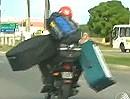 Motorradtransport / Motorradtaxi - Gepäckträger mal ganz anders - unglaublich :-)