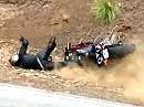 Motorradunfall: Aufgesetzt, Schiss gekriegt, aufgericht und abgeflogen