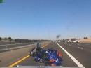 Motorradunfall Autobahn, Goldwing fährt allein weiter. Uuups