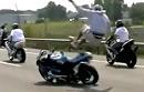 Motorradunfall beim Streetstunting mit einigen Schutzengeln die Massencrash verhindern