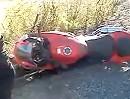 Motorradunfall: Wo´s Dich auf die Fresse haut, hast Du meistens hingeschaut.